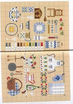 Gallery.ru / Фото #1 - Cuisine - Orlanda Cross Stitch Kitchen, Just Cross Stitch, Cross Stitch Art, Cross Stitch Samplers, Cross Stitch Designs, Cross Stitching, Cross Stitch Patterns, Embroidery Art, Cross Stitch Embroidery
