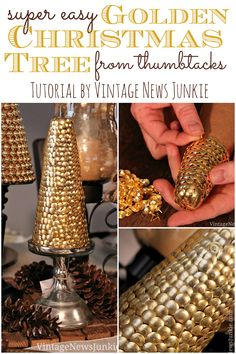 Christmas Tree from Thumbtacks
