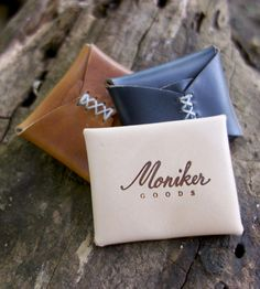 The Mini Leather Pouch by Monkier Goods on Scoutmob Shoppe.