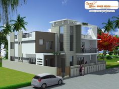 Modern Independent Floor Design in 285m2 (15m X 19m)  Like, share, comment. click this link to view more details - http://www.apnaghar.co.in/search-results.aspx