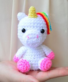 Crochet Pattern Baby Unicorn Amigurumi Unicorn by BunniesandYarn