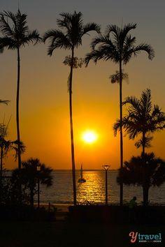 Sunset over Mindil Beach in Darwin, Northern Territory, Australia