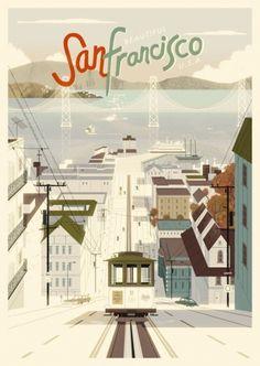 San Francisco Poster Design // The Art and Illustration of Kevin Dart
