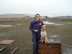 Our daughter Shani and her faithful search and rescue dog Annie.  They are both very dedicated to their work.