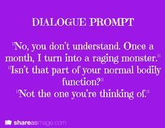 funny dialogue prompts - Google Search   Prompt Galore   Pinterest ...