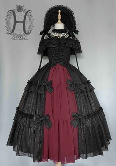 Henrietta -The Rose Grove- Lolita Jumper Dress Long Version