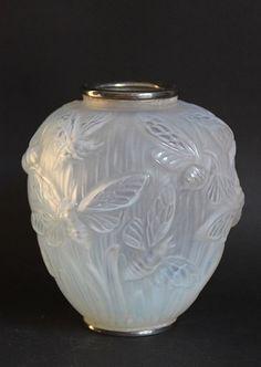 Art Deco Verlys Libellule Vase Signed by Nicoanteriors on Etsy