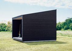 Muji Hut, a tiny prefab timber cabin for a minimalist living Micro House, Tiny House, Muji Hut, Prefab Buildings, Timber Cabin, Timber House, Cabins For Sale, Garden Studio, Cabin Design
