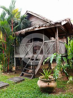 traditional Malay village house