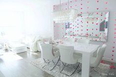 Valentine's Day DIY, White diningroom