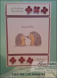 Watercolouring Love You Lots – Hostess Stamp Set - #stampinup #dolallycrafts #sweetsugarplum #love you lots Stampin' Up! | Do Lally Crafts