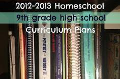 9th grade homeschool curriculum plans