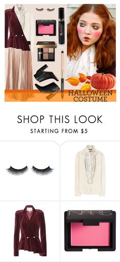 """doll costume"" by joliedy ❤ liked on Polyvore featuring Balmain, Carolina Herrera, NARS Cosmetics and Christian Dior"