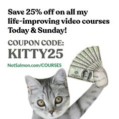 Radically improve your life in 10 minutes or less a day with my wide range of life improving video courses! PLUS GET 25% OFF THIS WEEKEND ONLY! Click for info! Use this coupon code at check out: KITTY25 Happiness Quotes, Happy Quotes, Life Quotes, Karen Salmansohn, Frame Of Mind, Pep Talks, Mindful, Self Help, Bestselling Author