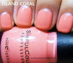 Island Coral - 2 coats - perfect resort shade when you have a golden glow
