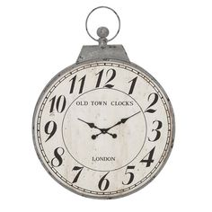 """Oversized Antique 28"""" Wall Clock"""