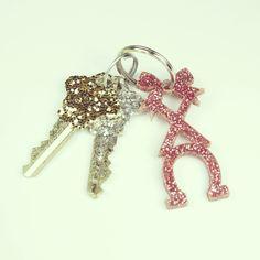 Chi Omega glitter keychain $8.00