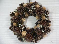 クリスマス ナチュラル トレースリースLL 30cm R88 訳あり フローラルリース オーナメント 造花 花束 装飾 木の実 天然素材 クリスマスリース リース:楽天