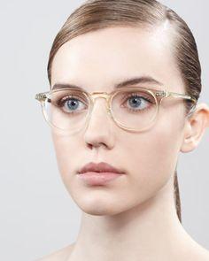 Oliver Peoples  Riley Fashion Glasses, Beige Crystal, $315.00
