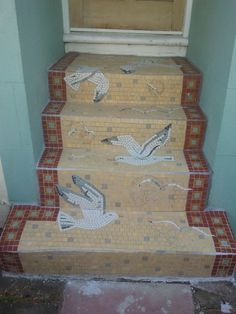 Love these mosaic steps in Hanover, Brighton...in fact I want them.