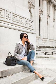 Refined Basics :: Plaid coat