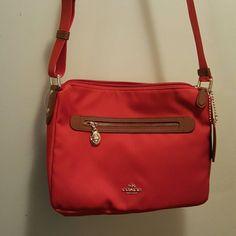 Authentic Coach Handbag Orange/ pepper crossbody F37239 11 x 9 Coach Bags Crossbody Bags