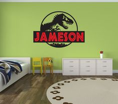 Dinosaur Name Wall Decal Sticker Large Kids Bedroom Big Fun - 3d dinosaur wall decalsd dinosaur wall stickers for kids bedrooms jurassic world wall