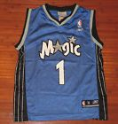 For Sale - Youth Reebok Tracy McGrady Orlando Magic Basketball Jersey Blue-M