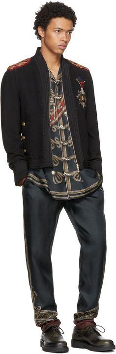 Dolce & Gabbana - Black Embellished Bomber Jacket