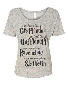 Harry Potter i am like house traits - Unisex or slouchy pull over Harry  Potter Fanartikel 1296733031305