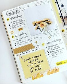 Find images and videos about journal, bullet journal and bujo on We Heart It - the app to get lost in what you love. Art Journal Pages, Album Journal, Art Journal Challenge, Art Journal Prompts, Journal Themes, Scrapbook Journal, Journal Layout, Art Journal Techniques, Journal Ideas