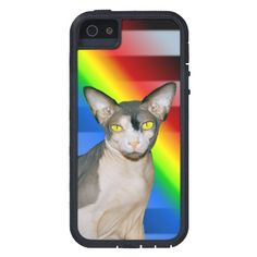 iPhone 5 Case | Sphynx Cat Ninja rainbow #zazzle