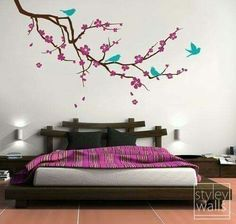 4 Awake Hacks: Interior Painting Techniques The Wall interior painting pink.Interior Painting Kitchen Color Schemes interior painting tips the family handyman.Interior Painting Techniques The Wall. Bird Wall Decals, Wall Sticker, Wall Décor, Wall Art, Wall Beds, Tree Wall, Diy Wall, My New Room, My Room