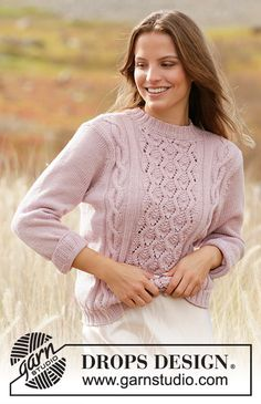 Free knitting patterns and crochet patterns by DROPS Design Cable Knitting Patterns, Knit Patterns, Free Knitting, Drops Design, Knit Cardigan Pattern, Drops Patterns, Crochet Diagram, Pulls, Knit Crochet