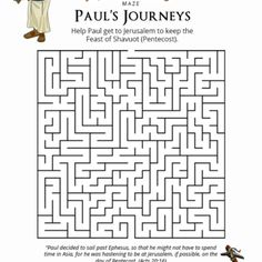 Mazes for Kids - Free download - Bible Mazes and Puzzles
