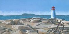 Beautiful Newfoundland artwork captured by artist Mia Lane Atlantic Canada, Newfoundland, Mount Rushmore, Contemporary, Mountains, Lighthouses, Artwork, Artist, Landscapes