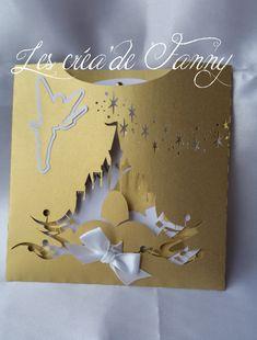 faire part mariage conte de fée or et blanc : Faire-part par les-crea-de-fanny