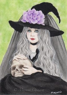 """Little Lady Witch"" (5x7) © Mayumi Ogihara"