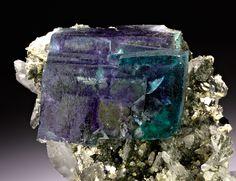 Fluorite with Arsenopyrite and Quartz Yaogangxian Mine, China