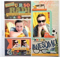 So Rad Pocket Page from design team member Vicki Boutin School Scrapbook, Kids Scrapbook, Scrapbook Pages, Pocket Page Scrapbooking, Scrapbooking Layouts, Simple Stories Snap, Mini Books, Scrap Books, Picture Layouts