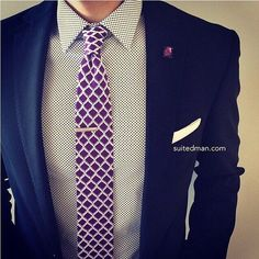 Outfit details at SuitedManStyle.com | Shirt by @hugo_sandiego | Accessories by SuitedMan.com | #suitup @SuitedManStyle