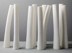 Group of tall bone china vessels, 2008 - Andrea Walsh Ceramics & Glass