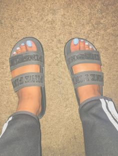 do the right thangg and follow me ... im the wave bro  pinns be litt @lovegne • don't be takingg my pinns and don't give me credit •  love youu Slide Sandals, Flat Sandals, Shoes Sandals, Cute Sandals, Shoes Sneakers, Sneaker Heels, Shoe Closet, Girls Club, Sock Shoes