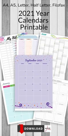 This collection of 2021 Year Calendars Printable is for person who love life planning and keeping things in order. Having a plan gives you a feeling of control and sets you in a mood for acomplishements while helping you do your daily deeds. Time goes by anyway, so use it reasonably! Day Planner Template, Weekly Meal Plan Template, Monthly Budget Template, Checklist Template, At A Glance Planner, Hourly Planner, Weekly Meal Planner, Goal Setting Template, Goals Template