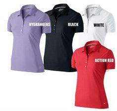 Nike Golf Ladies Shirts | Dot Embossed Polo