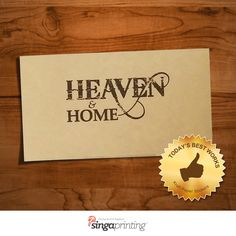 We make & print Kraft Paper Stickers. Lowest price offered. No hidden Charges. Free Delivery SG Wide.