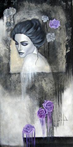 "Saatchi Art Artist: Chehade Chehade; Oil 2013 Painting ""Jardin de roses"""