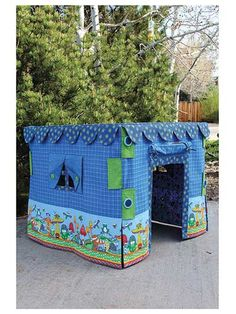 What's Bugging You Card Table Play House Sewing Pattern - Learn how to make a kids indoor playhouse