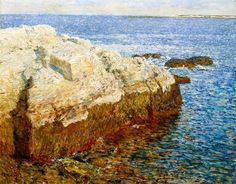 Childe Hassam, Frederick - Cliff Rock - Appledore - Impressionism - Oil on canvas - Landscape - Indianapolis Museum of Art - Indianapolis, IN, USA