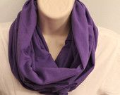 purple cotton infinity scarf jersey scarf cowl woman/girl circle scarf nomad cowl